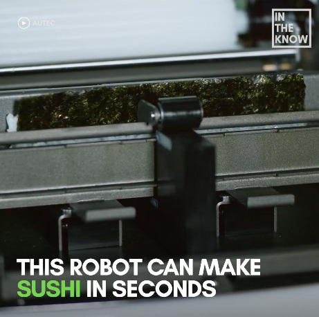 This sushi-making robot is capable of making 450 rolls per hour